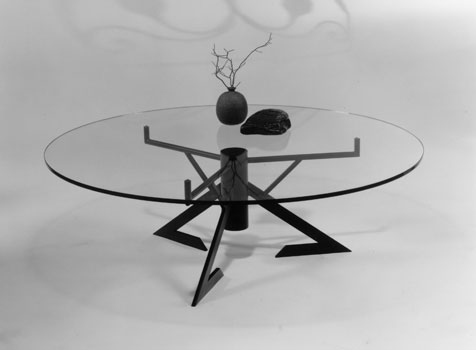 magellan cocktail table (round glass)
